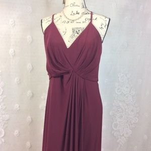 DB Studio Maroon Drapey Cocktail Prom Dress 12